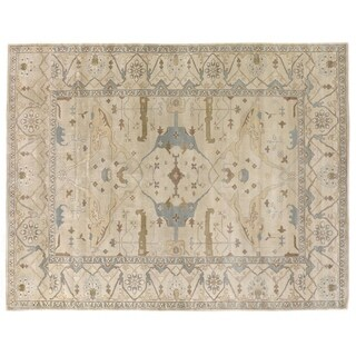 Exquisite Rugs Turkish Oushak Ivory New Zealand Wool Rug (8' x 10') - 8' x 10'