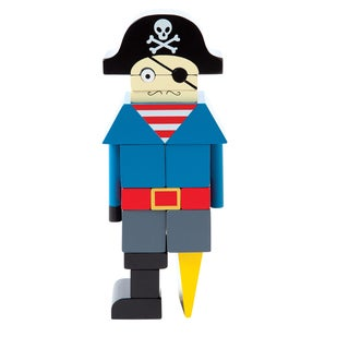 Manhattan Toy Arrgh! the Pirate Magnetic Wooden Stacking Blocks