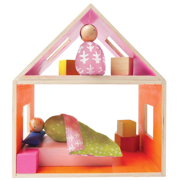 Manhattan Toy MiO Sleeping Wooden Building Set with 2 People