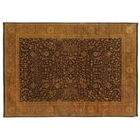 Exquisite Rugs Ziegler Black / Multi New Zealand Wool Rug (9' x 10')
