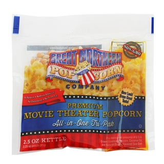 Great Northern Popcorn 2.5-Ounce All-Natural Popcorn Portion Packs (Case of 24)