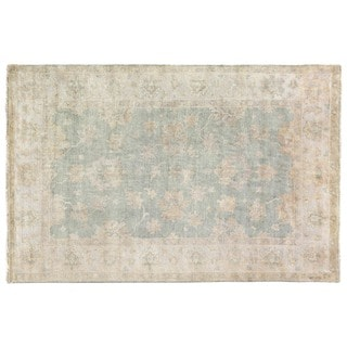 Turkish Oushak Light Blue New Zealand Wool Rug (8' x 10')