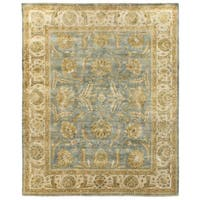 Exquisite Rugs Turkish Oushak Light Blue / Ivory New Zealand Wool Rug - 8' x 10'