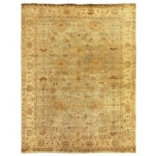 Turkish Oushak Light Blue / Ivory New Zealand Wool Rug (8' x 10')