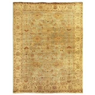 Turkish Oushak Light Blue/Ivory New Zealand Wool Rug (9' x 12')