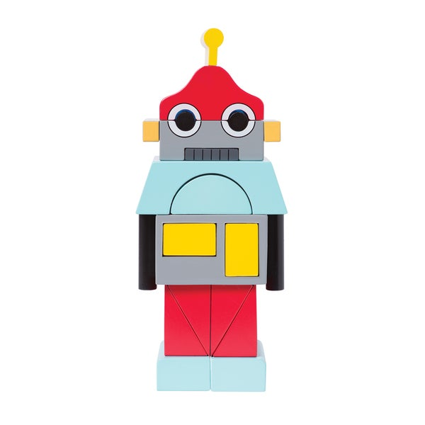 Manhattan Toy Beep The Robot Magnetic Wooden Stacking Blocks