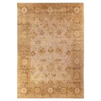 Exquisite Rugs Turkish Oushak Light Blue / Light Brown New Zealand Wool Rug (10' x 14')