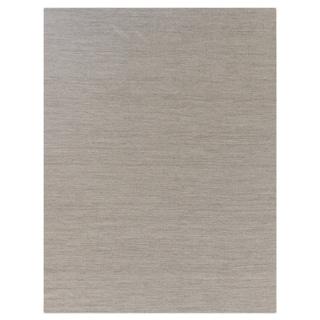 Weathered Flatweave Light Grey New Zealand Wool Rug (9' x 12')