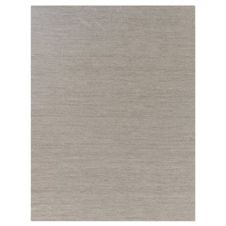 Weathered Flatweave Light Grey New Zealand Wool Rug (9'6 x 13'6)