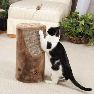 Savvy Tabby Tumbler Tan Rope and Carpet Cat Scratchers