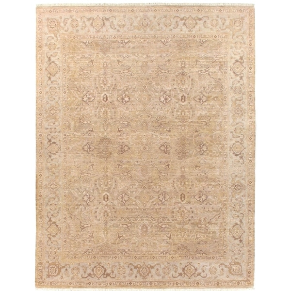 Shop Exquisite Rugs Ziegler Camel Beige New Zealand Wool Rug