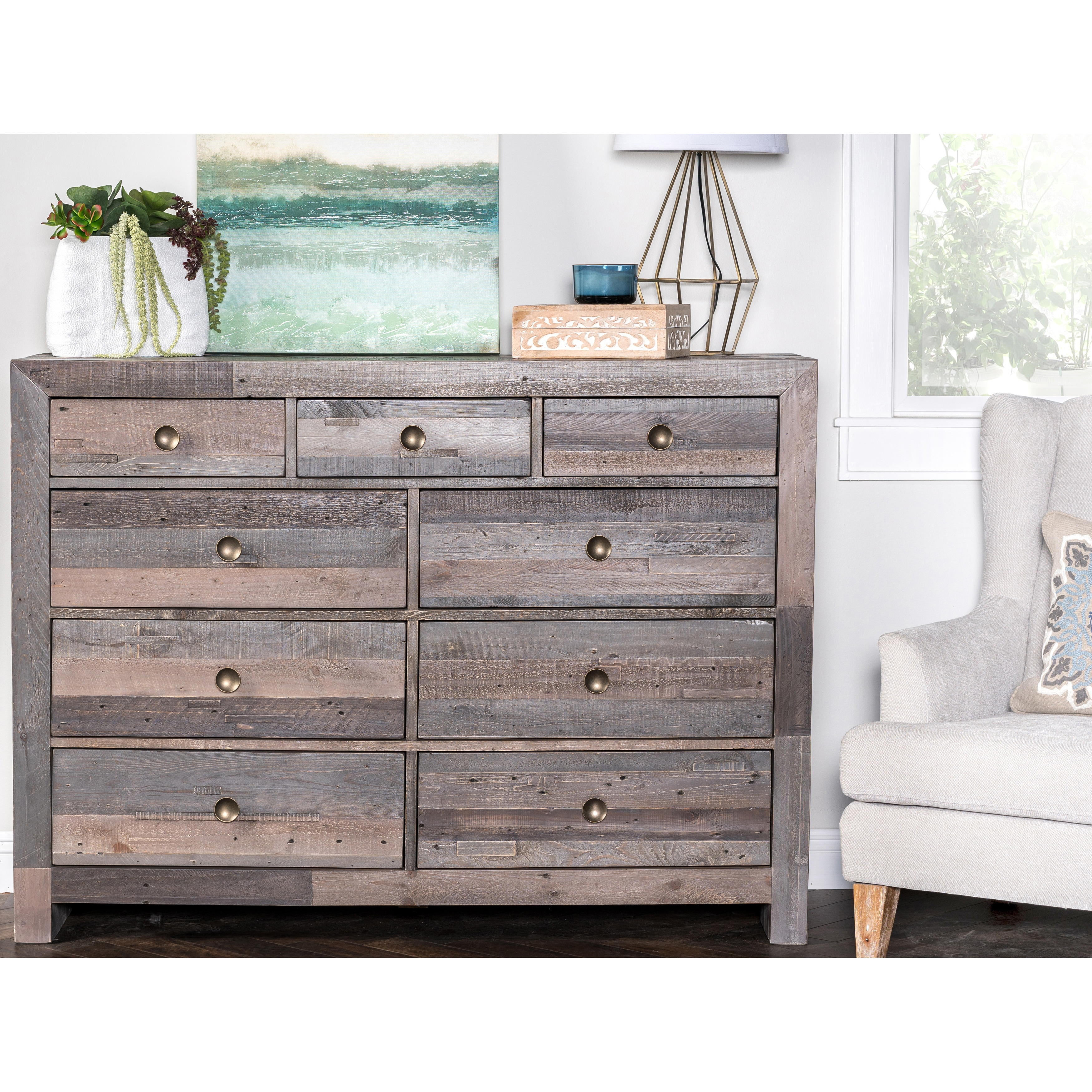 Carbon Loft Edison Reclaimed Wood 9 Drawer Dresser Free Shipping On Orders Over 45 9999918683967