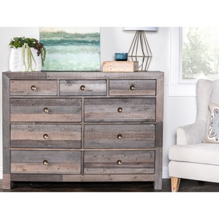 Kosas Home Hand Crafted Oscar Natural Recovered Shipping Pallets 9-drawer Dresser