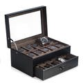 Black Polyurethane Watch Boxes