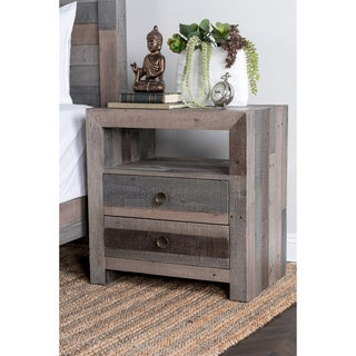 Oscar Reclaimed Wood 2-drawer Nightstand by Kosas Home