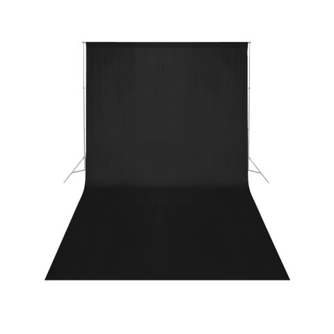 Square Perfect Economy Black Muslin 6' x 9' Backdrop For Photography