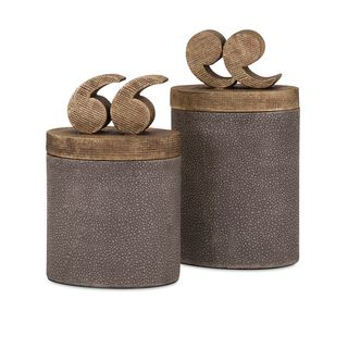 Beth Kushnick Quote Lidded Boxes (Set of 2)