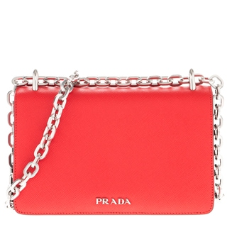 Prada Chain Shoulder Saffiano Leather Bag