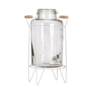 Hamilton Glass Jar Drink Dispenser with Stand