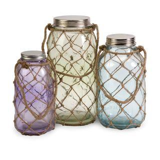Marci Decorative Glass Jars (Set of 3)
