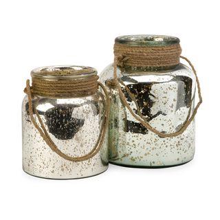 Bretton Jars with Jute Handle (Set of 2)
