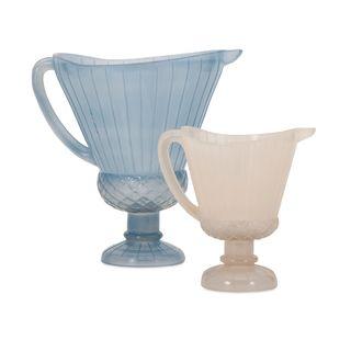 Vintage Glass Pitchers (Set of 2)