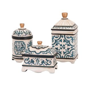 Beth Kushnick Hand-painted Ceramic Boxes (Set of 3)