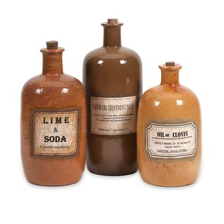 Easton Decorative Medicine Bottles (Set of 3)