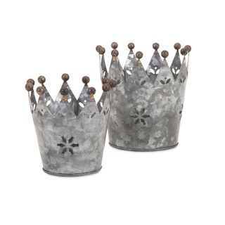 Maddy Galvanized Crowns (Set of 2)
