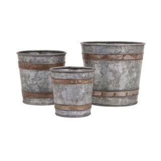 Becki Galvanized Pots (Set of 3)