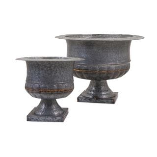 Carey Galvanized Urns (Set of 2)