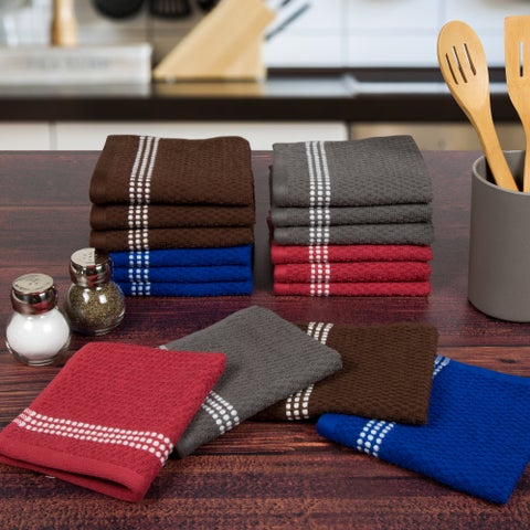 Windsor Home 16-piece Cotton Terry Kitchen Towel Wash Cloth Set