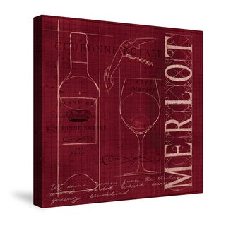 Laural Home Wine Blueprint Canvas Wall Art