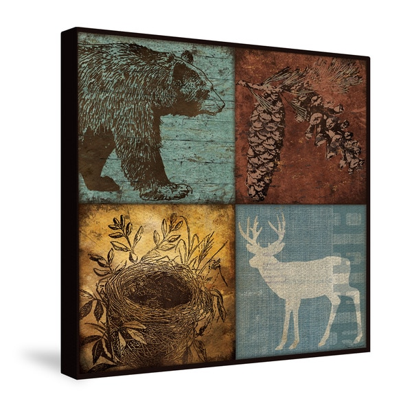 Shop Laural Home Lodge Patch Canvas Wall Art - Free Shipping Today ...