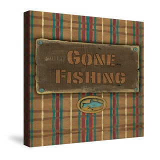 Laural Home Gone Fishing Canvas Wall Art