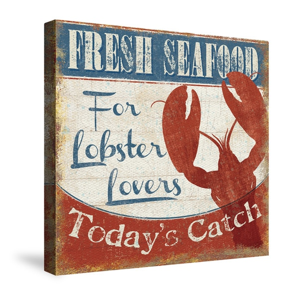 Laural Home Fresh Seafood Canvas Wall Art