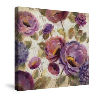 Laural Home Blue and Purple Flower Song Canvas Art