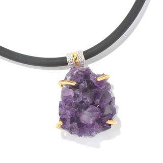 Michael Valitutti Amethyst Druzy Pendant|https://ak1.ostkcdn.com/images/products/11771411/P18684138.jpg?impolicy=medium