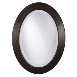 Adonai Ebony Oak 34-inch Oval Mirror