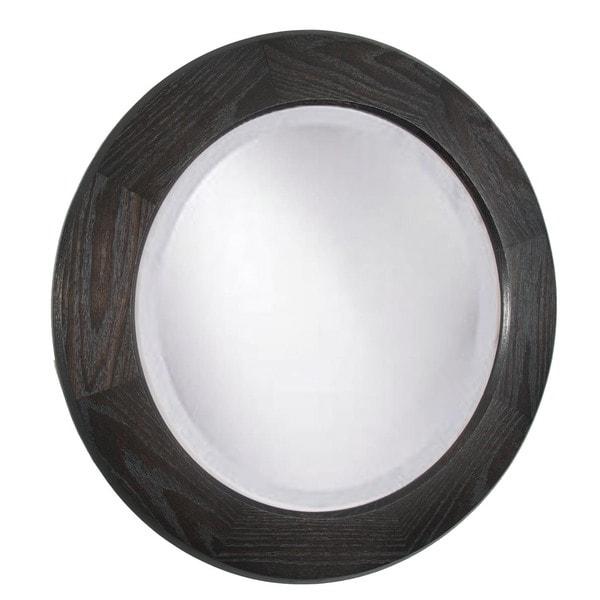 Adonai Ebony Oak 26 Inch Round Mirror Dark