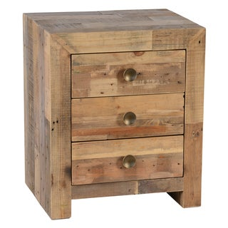 Kosas Home Hand-crafted Oscar Natural Recovered Shipping Pallets 3-drawer Nightstand