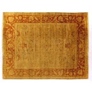 Anatolian Oushak Gold / Rust New Zealand Wool Square Rug (8'4')