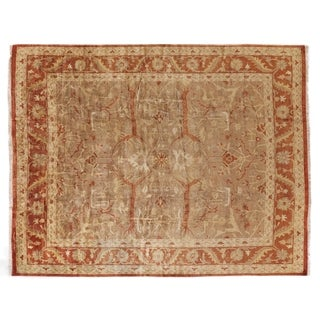 Anatolian Oushak Brown / Rust New Zealand Wool Square Rug (8')