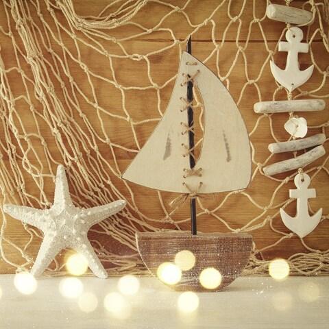Wakeman Decorative Fish Netting 5' x 10' Authentic Nautical Look
