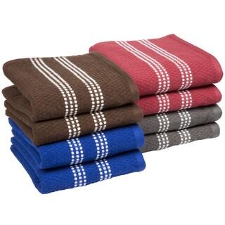 Gentil Windsor Home 8 Piece Cotton Popcorn Terry Kitchen Towel Set