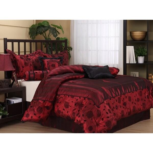 Nanshing Evangeline 7-piece Red Bedding Comforter Set