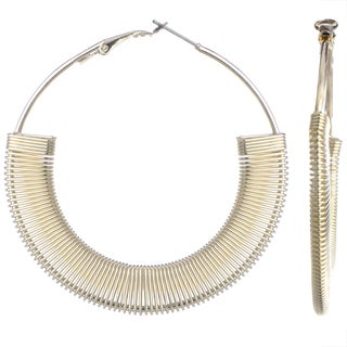 Goldtone Brass Hoop Earrings