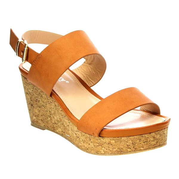b2d4d4e15db Shop VIA PINKY Platform Wedge Sandals - Free Shipping On Orders Over ...
