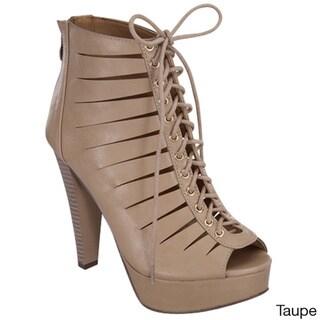 Beston Women's Peep Toe Heels