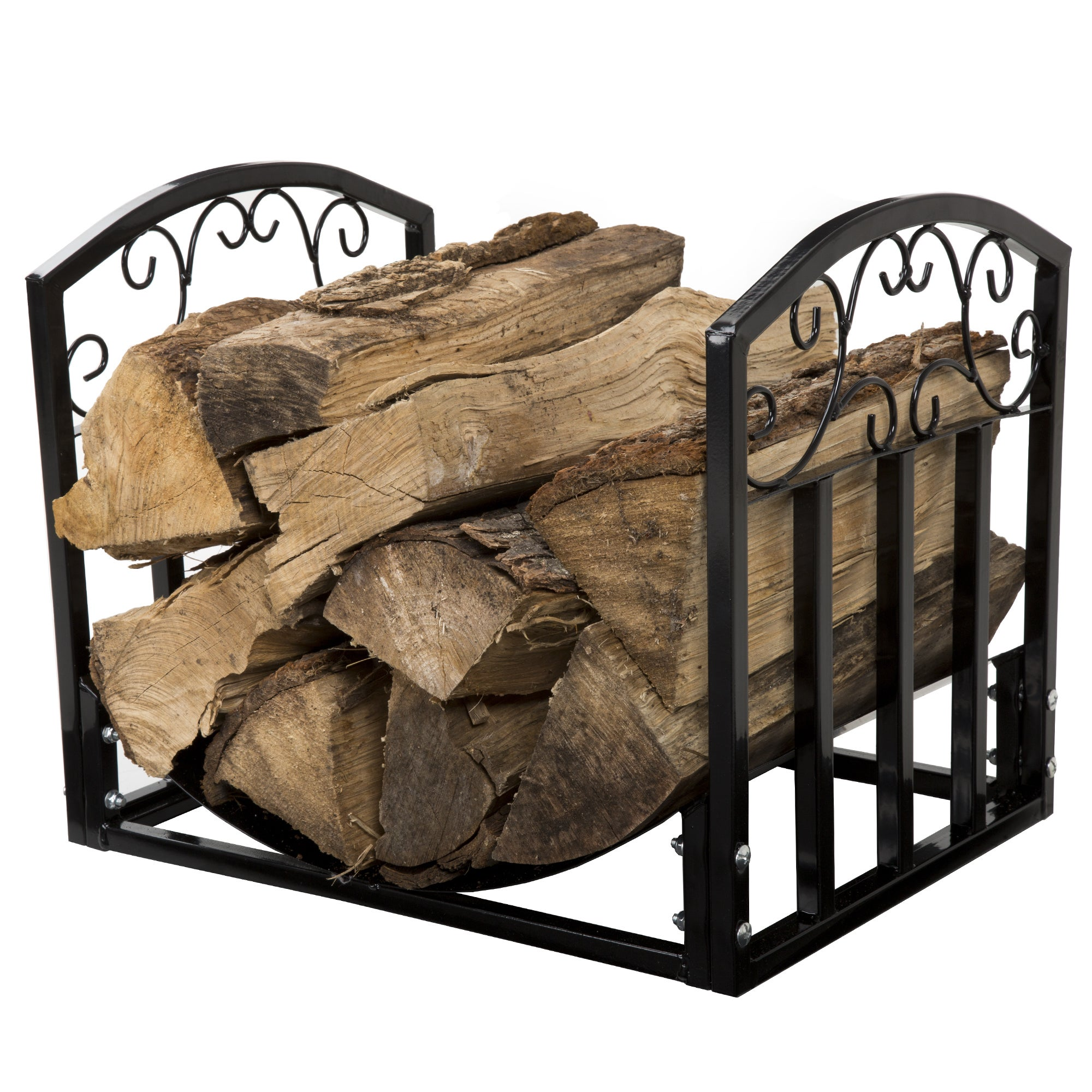 Trademark Global Pure Garden Fireplace Log Bin with Scrol...